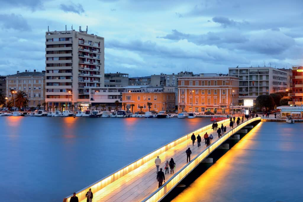 This is photo of a bridge at Zadar
