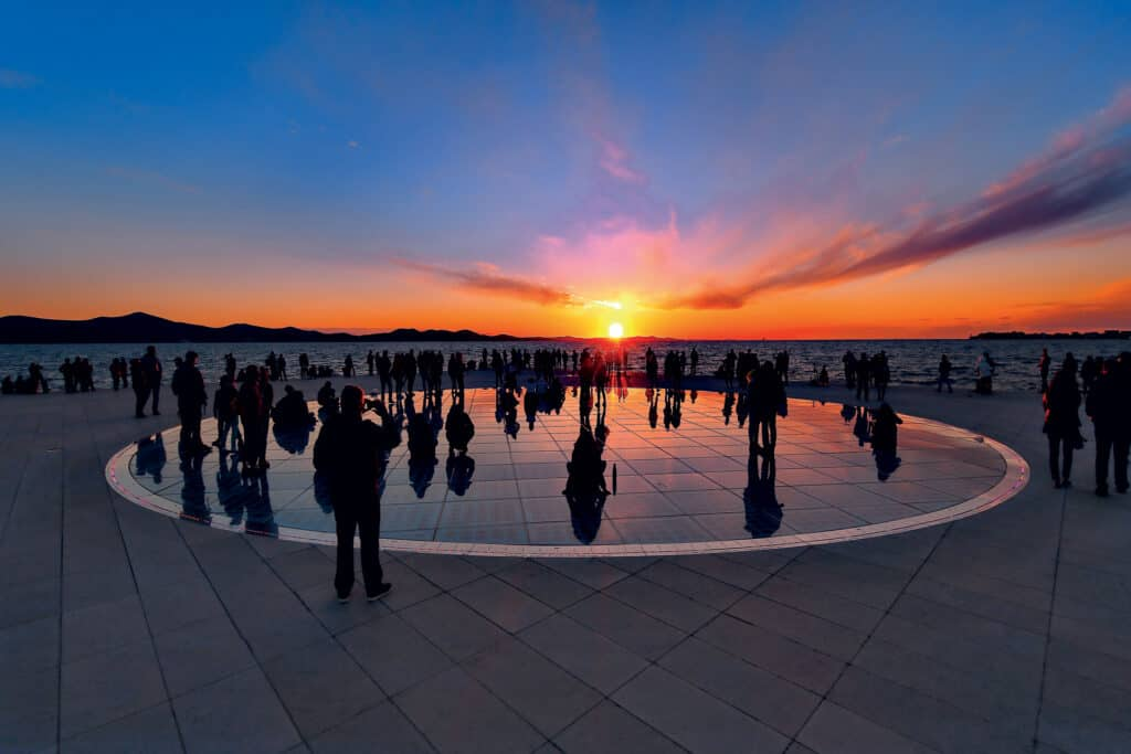 This is photo of a greeting to the Sun, Zadar