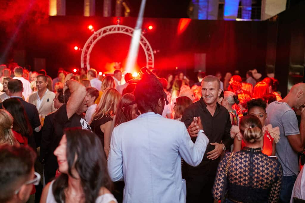 This is photo of a summer event at Porto Montenegro