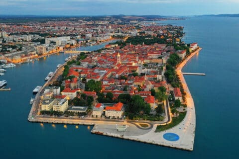 This is photo of a town Zadar