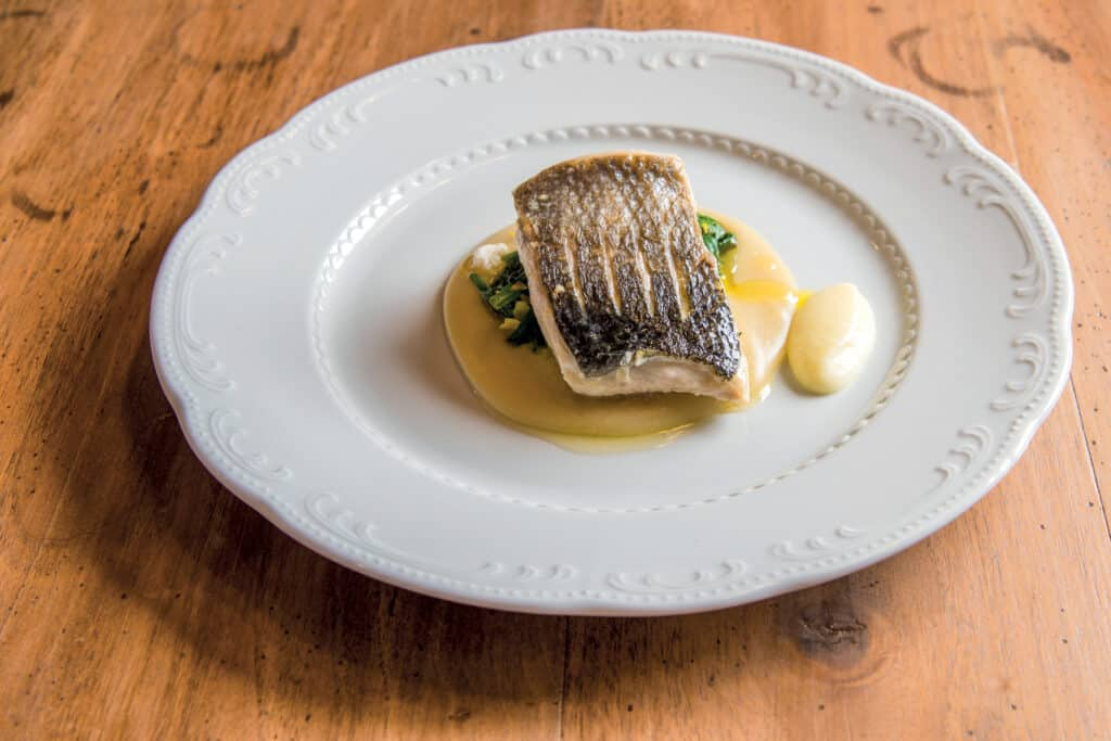 This is photo of a served dish, fish