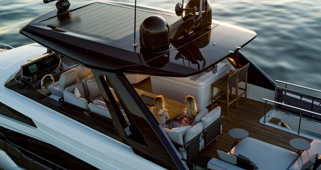This is a photography of Ferretti 780 redesign