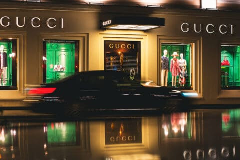This is photo of a Gucci boutique