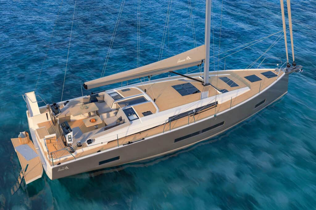 This is photo of a new Hanse 460
