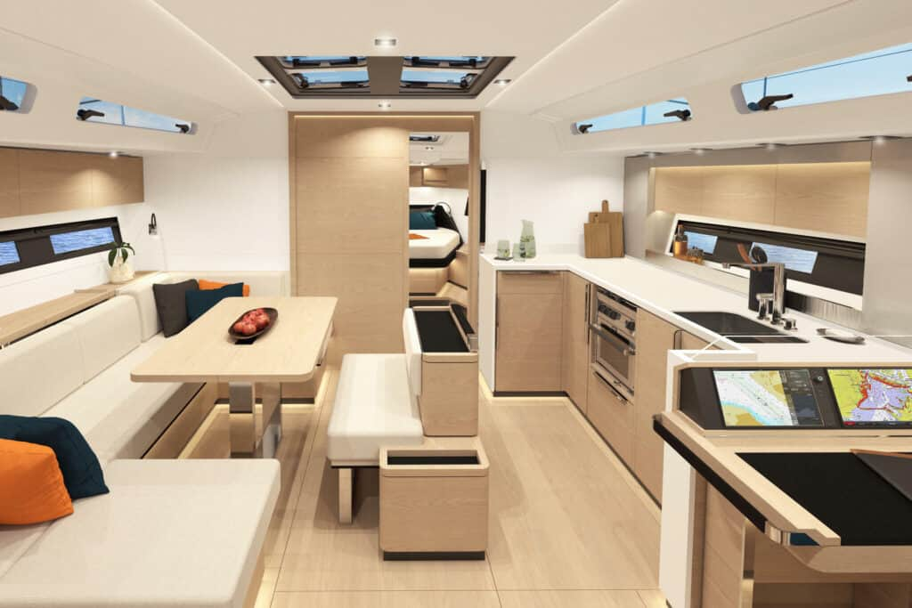 This is photo of a interior at new hanse 460