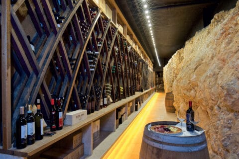 This is photo of a wine cellar at Lux Casino Hotel Mulino