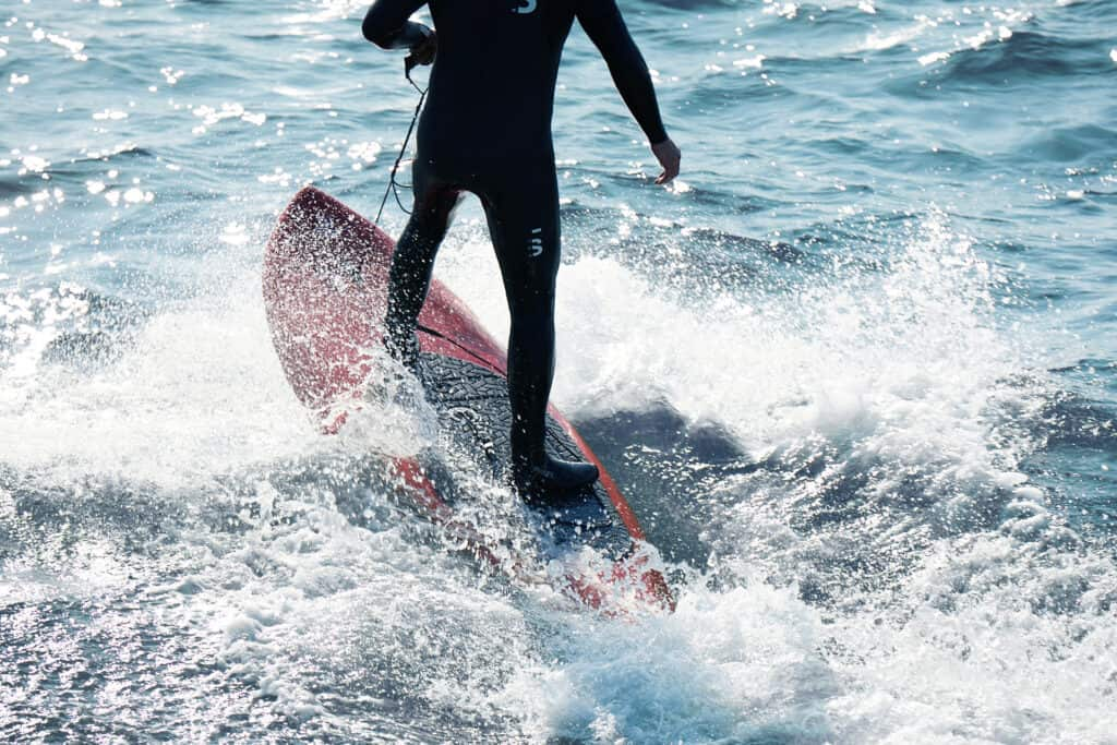 This is photo of a electric surfboard Olo