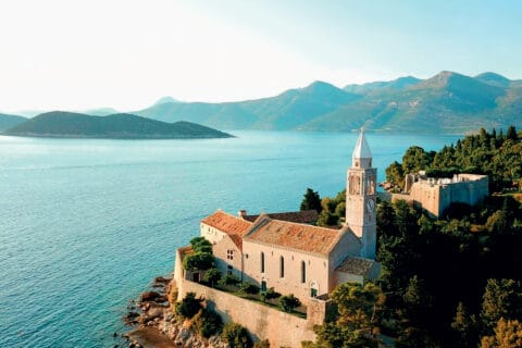 This is photo of a seaside palace, Lopud 1483, Boutique Hotels in Croatia
