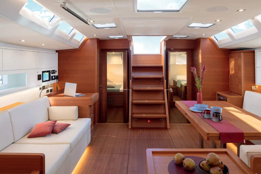 This is photo of a Solaris 60 interior