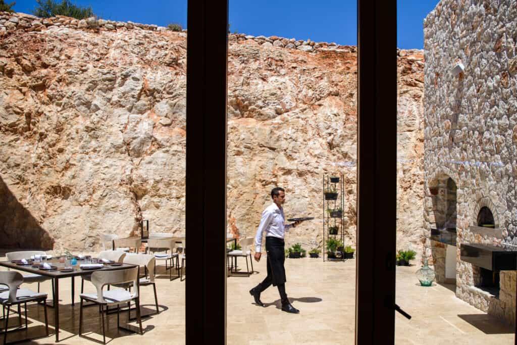 This is photo of a Villa Nai restaurant terrace