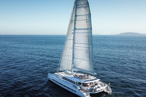 This is photo of a catamaran Skimmer, Yacht IN