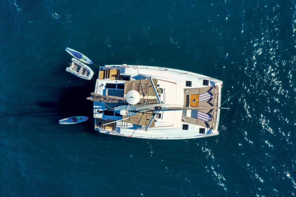 This is photo of a catamaran Bali 4.6