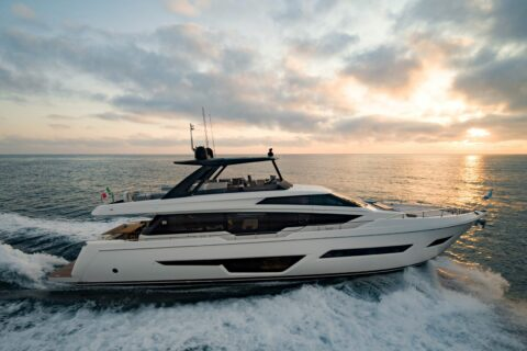 This is a photography of Ferretti Yachts 780