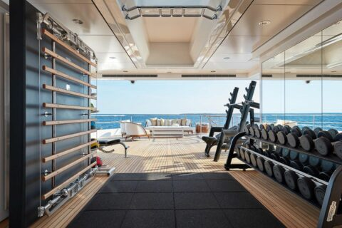 This is a photography of gyms on superyachts