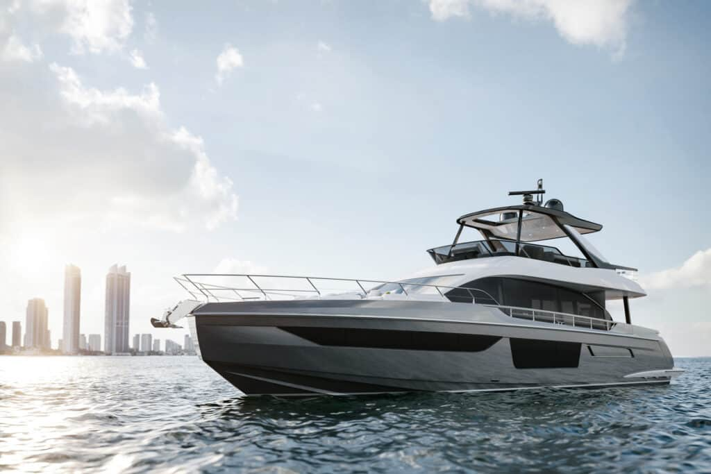 This is photo of a new Azimut 68