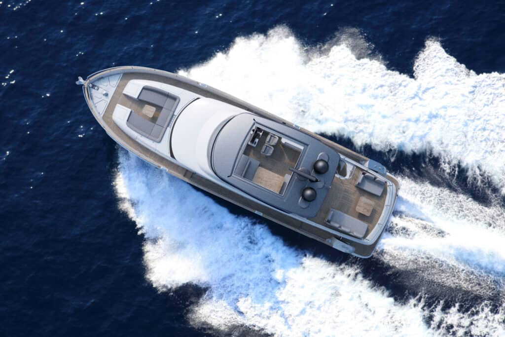 This is photo of a Azimut Magellano 66