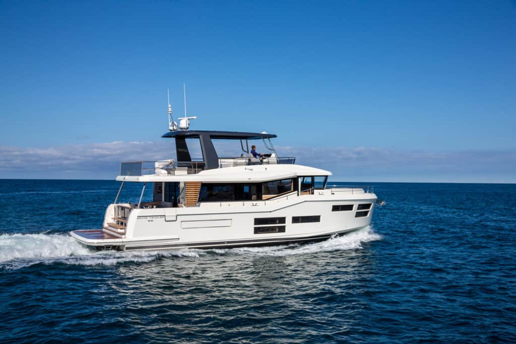This is photo of a Beneteau Grand Trawler 62