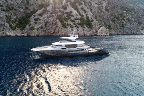 This is photo of a Kando130XL by AvA Yachts