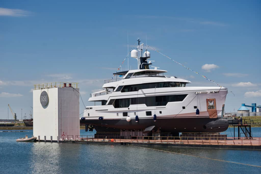 This is photo of a RSY 38m cannes yachts