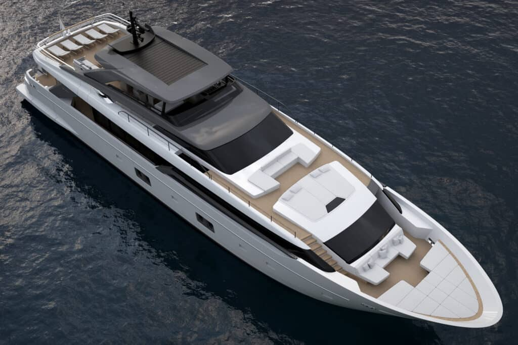 This is photo of a Sanlorenzo SL120Asymmetric cannes yachts