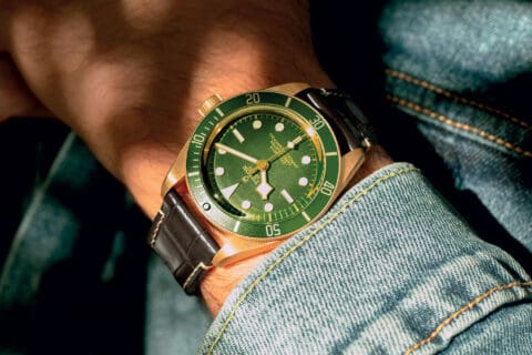This is photo of a Tudor Black bay Fifty-Eight