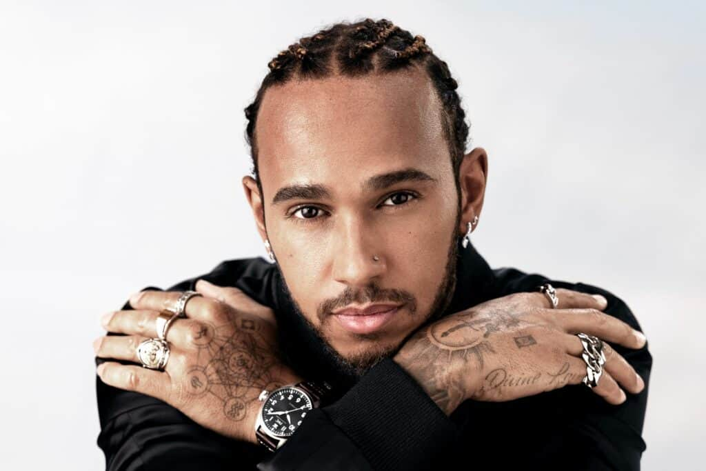 This is a photography of iwc watches lewis hamilton