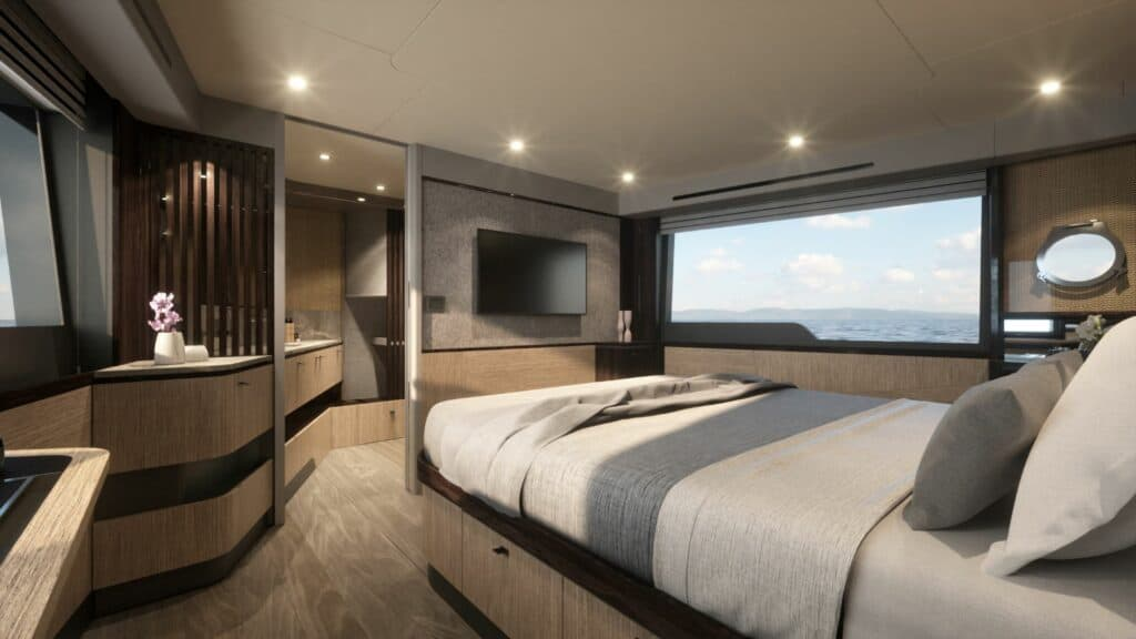 This is a photo of Absolute 56 Fly owner cabin