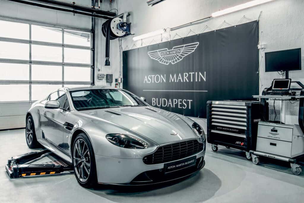 This is photo of a Aston Martin servis