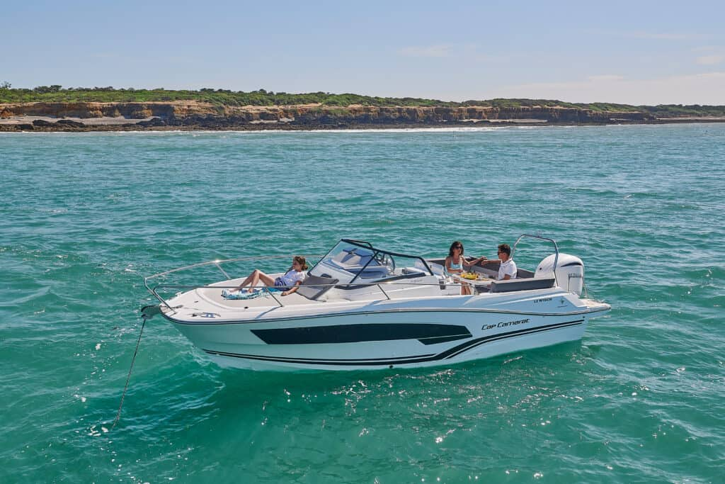 This is photo of a Cap Camarat 7.5 WA Série 3 premiere at Cannes Yachting Festival 2021