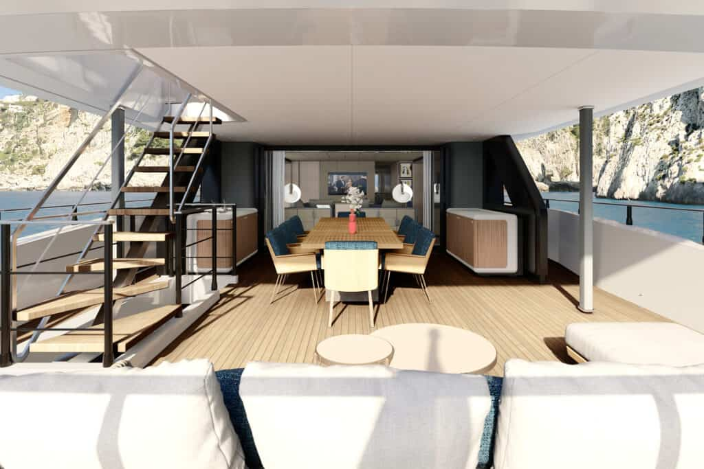 This is photo of a aftdeck