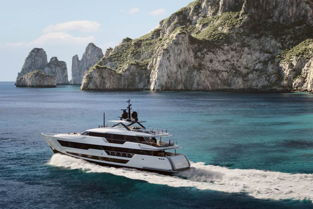 This is photo of a new Custom Line superyacht project
