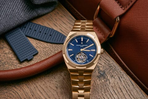 This is photo of a gold watch
