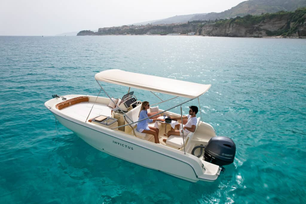 This is photo of a Invictus Capoforte SX200 premiere at Cannes Yachting Festival 2021