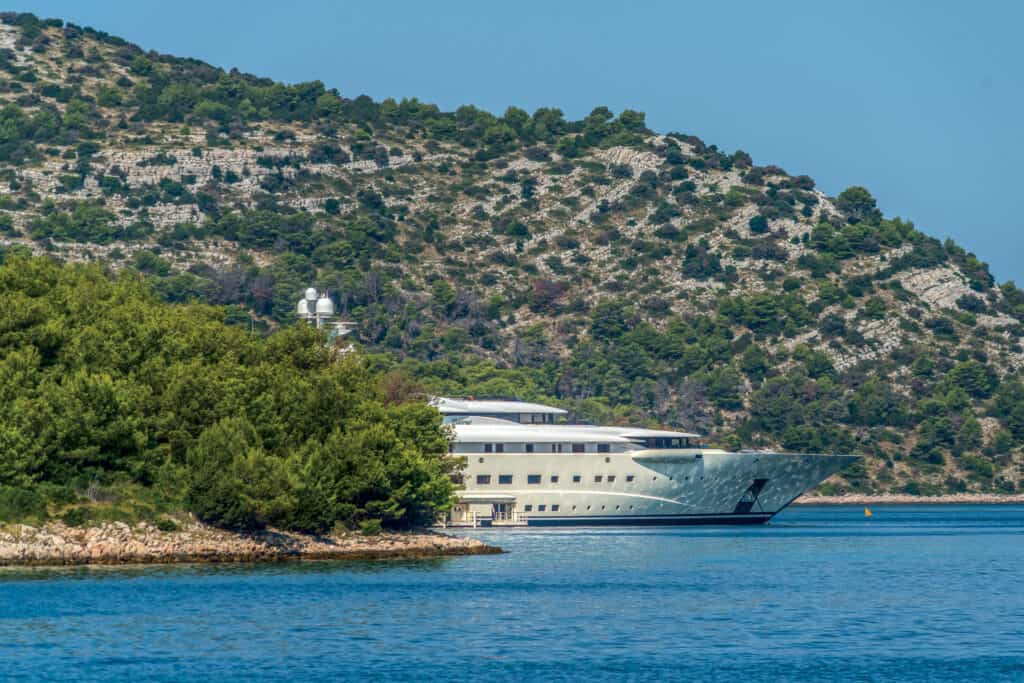 This is photo of a yacht at Kornati