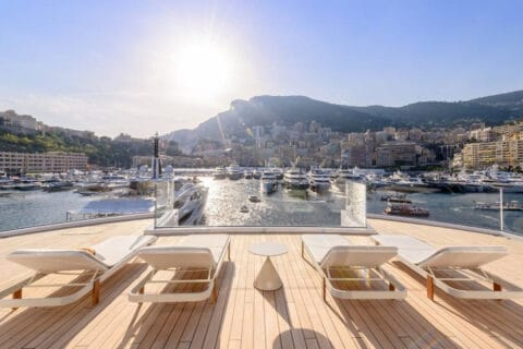 This is photo of a Monaco Yacht Show 2021