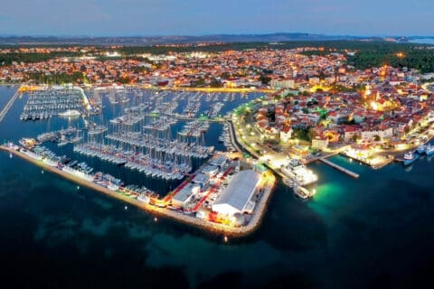 This is photo of a Panoramic view on Biograd Boat Show