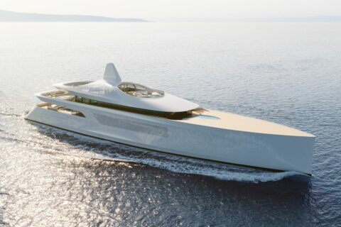 This is a photography of Feadship Pure