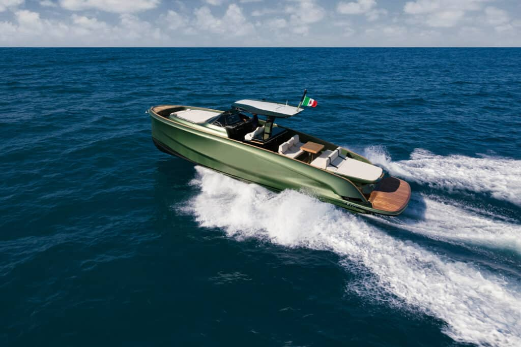 This is photo of a Solaris 44 Open cruising