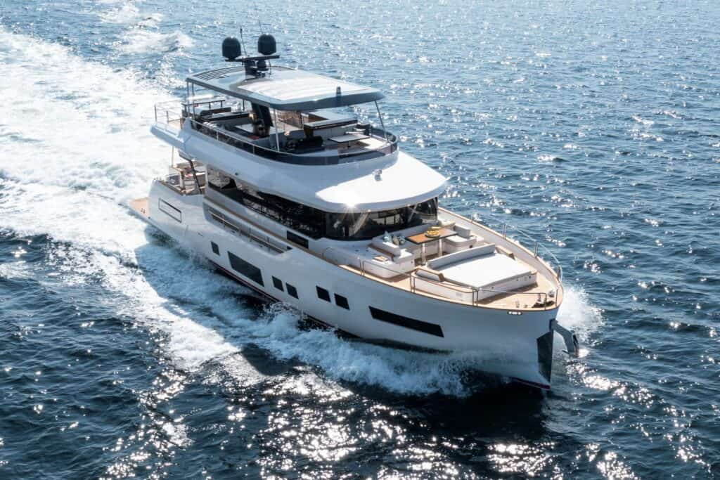 This is photo of a Sirena 68 motor yachts motorne jahte cannes