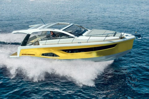 This is photo of a new Sealine S390